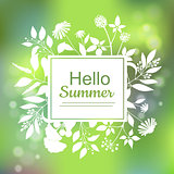 Hello Summer green card design