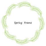Spring frame made up of leaves