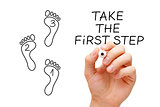 Take The First Step Footprint Concept