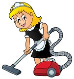 Cleaning lady theme image 1