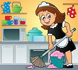 Cleaning lady theme image 3