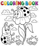Coloring book ladybug theme 3