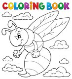 Coloring book wasp theme 1