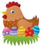 Easter hen theme image 1