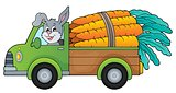 Truck with carrots theme image 1