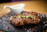 Prime Black Angus New York strip steak