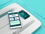 Smart weight scale and smartphone