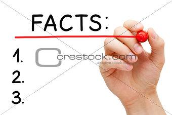 Facts List Concept
