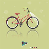 Cycling concept. Bicycle. Vector bright illustration of Bike. Trendy style for graphic design, logo, Web site, social media, user interface, mobile app.