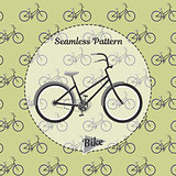 Bike pattern. Simple illustration of bicycle vector for web and print.