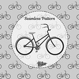 Seamless pattern bikes. Simple illustration of bicycle vector for web and print.