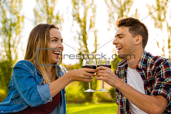 Toasting our love