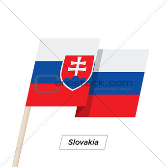Slovakia Ribbon Waving Flag Isolated on White. Vector Illustration.