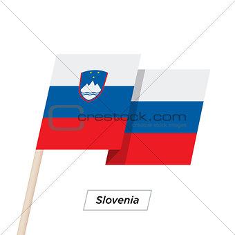 Slovenia Ribbon Waving Flag Isolated on White. Vector Illustration.