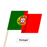 Portugal Ribbon Waving Flag Isolated on White. Vector Illustration.