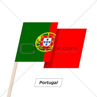 Portugal Ribbon Waving Flag Isolated on White. Vector Illustration.