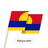 Palmyra Atoll Ribbon Waving Flag Isolated on White. Vector Illustration.