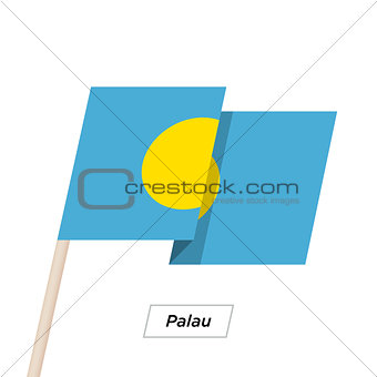 Palau Ribbon Waving Flag Isolated on White. Vector Illustration.