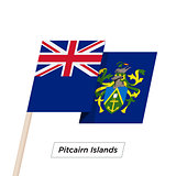Pitcairn Islands Ribbon Waving Flag Isolated on White. Vector Illustration.