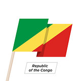 Republic of the Congo Ribbon Waving Flag Isolated on White. Vector Illustration.