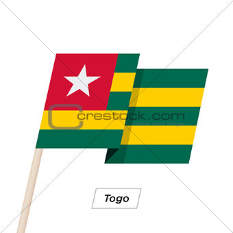 Togo Ribbon Waving Flag Isolated on White. Vector Illustration.