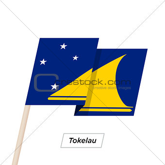 Tokelau Ribbon Waving Flag Isolated on White. Vector Illustration.
