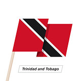 Trinidad and Tobago Ribbon Waving Flag Isolated on White. Vector Illustration.