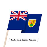 Turks and Caicos Islands Ribbon Waving Flag Isolated on White. Vector Illustration.