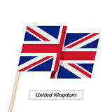 United Kingdom Ribbon Waving Flag Isolated on White. Vector Illustration.