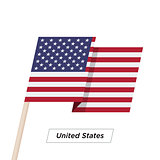 United States Ribbon Waving Flag Isolated on White. Vector Illustration.