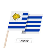 Uruguay Ribbon Waving Flag Isolated on White. Vector Illustration.
