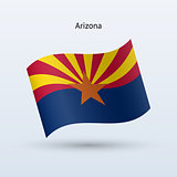 State of Arizona  flag waving form. Vector illustration.