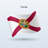 State of Florida flag waving form. Vector illustration.