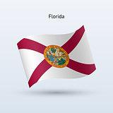 State of Florida flag waving form. Vector illustration.