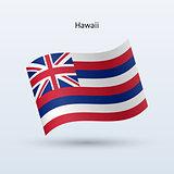 Hawaii flag waving form. Vector illustration.