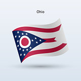 State of Ohio flag waving form. Vector illustration.