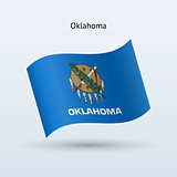 State of Oklahoma flag waving form. Vector illustration.
