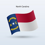State of North Carolina flag waving form.