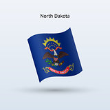 State of North Dakota flag waving form.