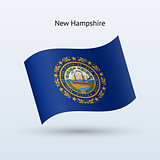 State of New Hampshire flag waving form.