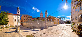 Ancient landmarks of Zadar view