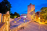 Town of Zadar five wells square evening view