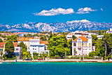Zadar coast villas ann Velebit background