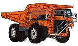 Big mining dump truck