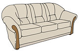 Light comfortable sofa