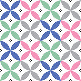 Geometric seamless pattern in pastel colours - inspired by Spanish and Portuguese tiles design