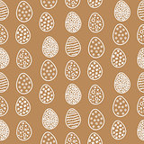 Happy Easter Pattern with Eggs