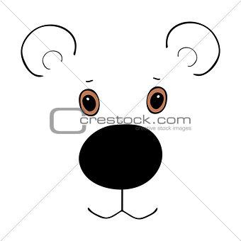 Bear cute funny cartoon head