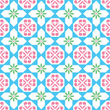 Spanish tiles pattern, Moroccan and Portuguese tile seamless design- Azulejo