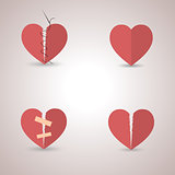 Icons heart, vector illustration.
